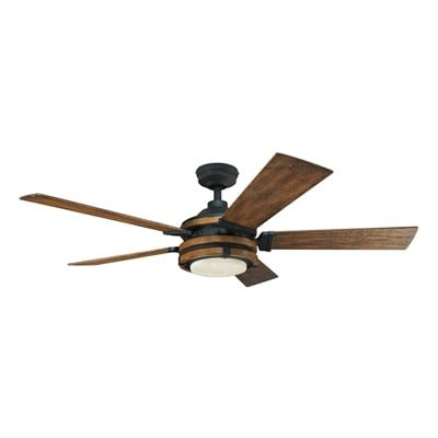 ceiling wood control kichler fan shop to close barrington and remote distressed lighting starazago mount black ceilings with downrod in or from