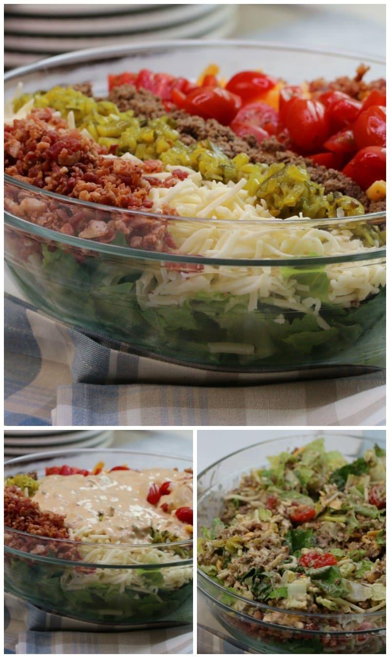 Big Mac Cheeseburger Salad (Keto Friendly)