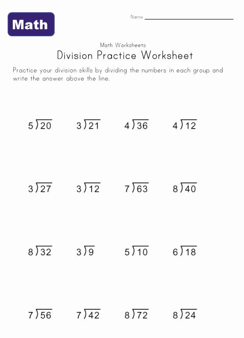 simple division worksheet 1 | Division worksheets, Math ...