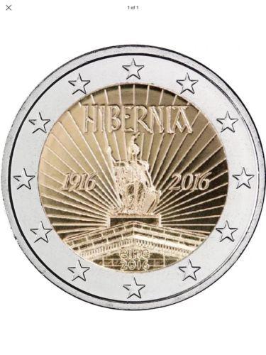 Ireland 2 2 Euro Commemorative Hibernia Coin 2016 From Bag View