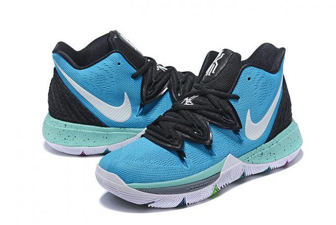 2019 Nike Kyrie 5 Custom Blue Black White On Sale-3 061339dc1