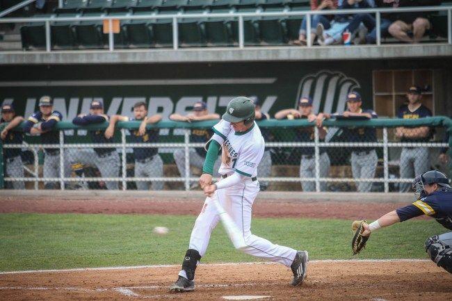 Baseball Uvu Wins 4 2 Over Unc Behind Bogden Mayer Sports Unc Baseball