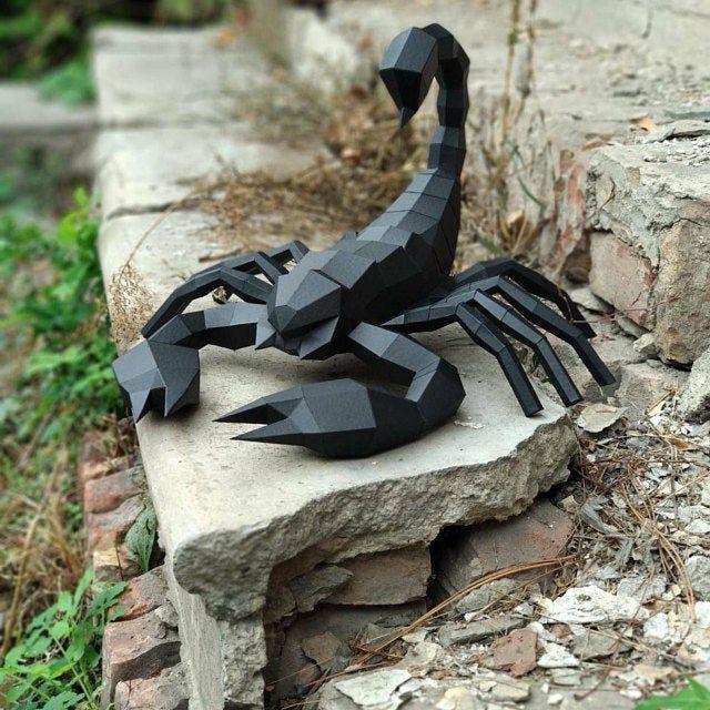 Photo of Scorpion papercraft, Low poly scorpion, DIY scorpion,  Paper scorpion