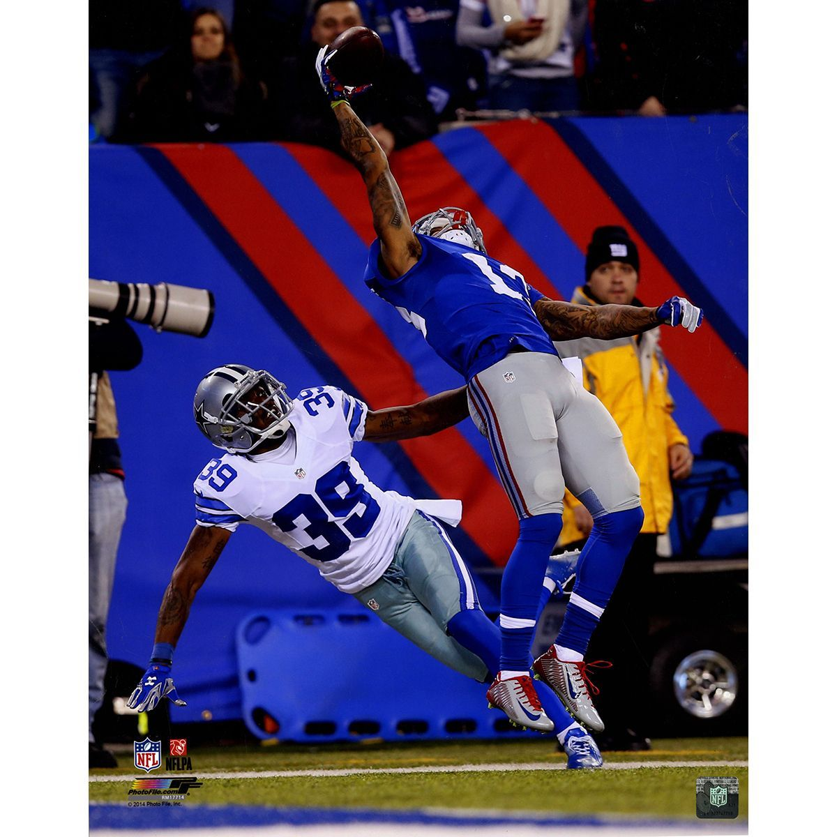 wholesale dealer 0a5bd 3890d Odell Beckham Jr. One-Handed Catch Vertical 16x20 Photo ...