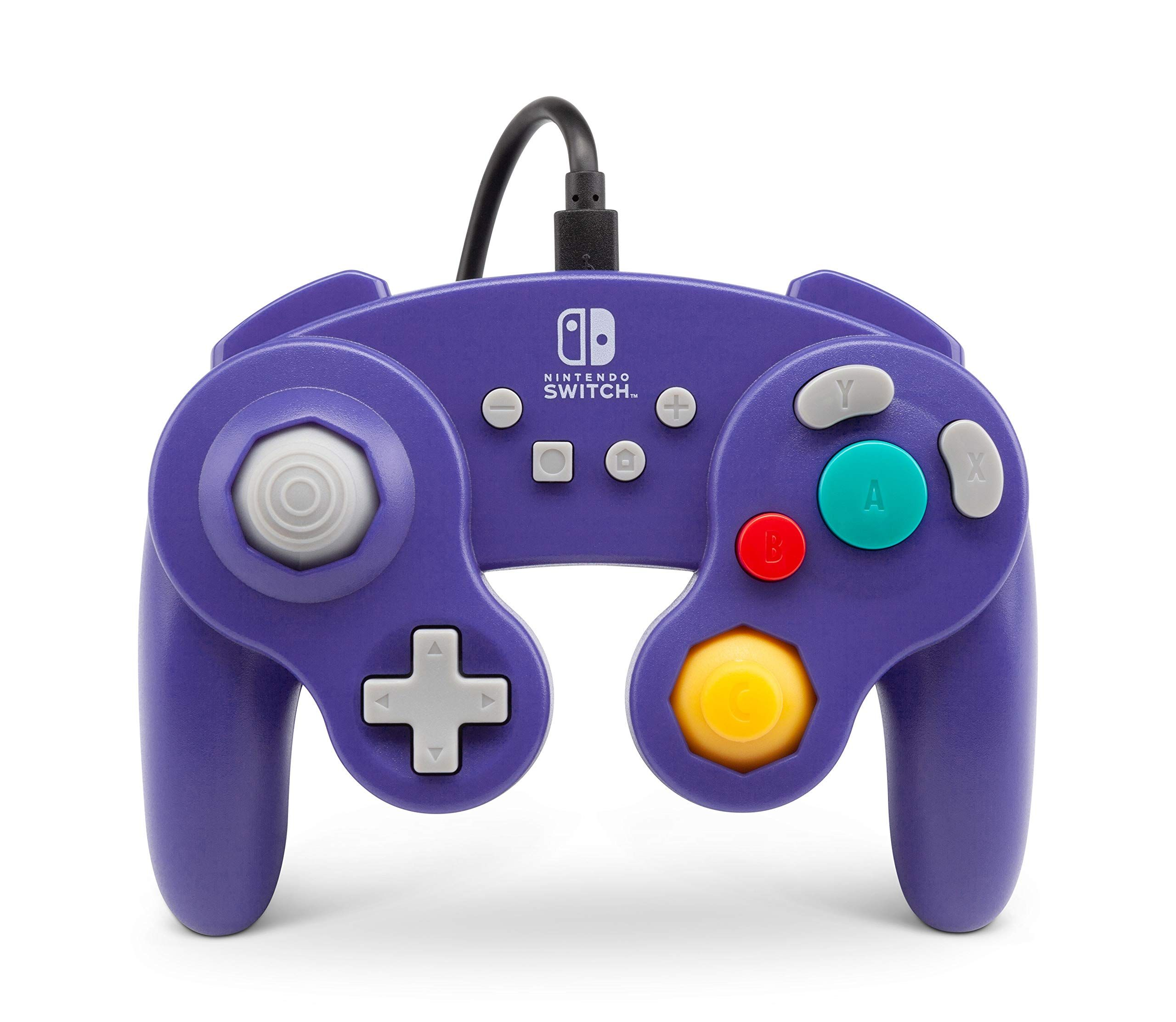 Powera Wired Controller For Nintendo Switch Gamecube Style Purple Nintendo Switch Controller Ni Nintendo Controller Nintendo Switch Gamecube Controller