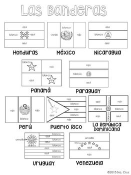 Flags of Spanish-Speaking Countries Coloring Sheets | Spanish ...
