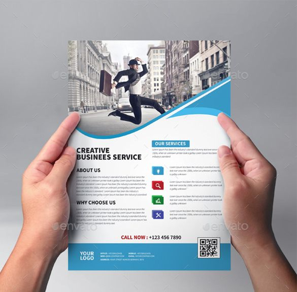 4 Corporate Business Flyer Template Photoshop PSD (  Business Pamphlet Templates Free