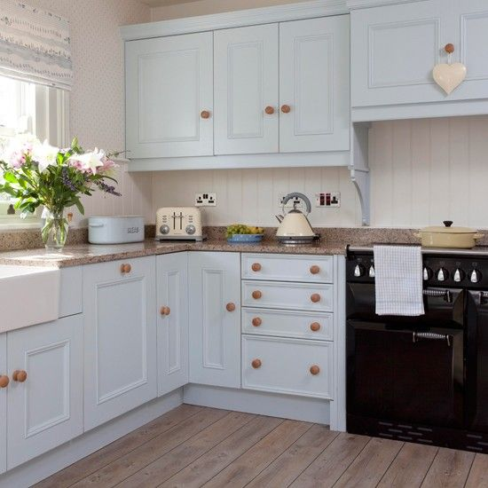 Step inside an 18th century period home in surrey blue for Duck egg blue kitchen units