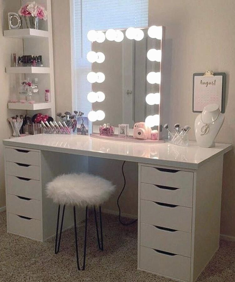 28 New Vanity Makeup Tables With Lights Beauty Room Ikea Makeup Vanity Makeup Table Vanity