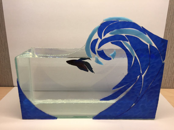 Handmade Wave Art Design Stained Gl Mosaic Mirror By