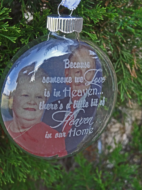 Bella Merce Because Someone We Love Is In Heaven Ornament With Photo Option 20 00
