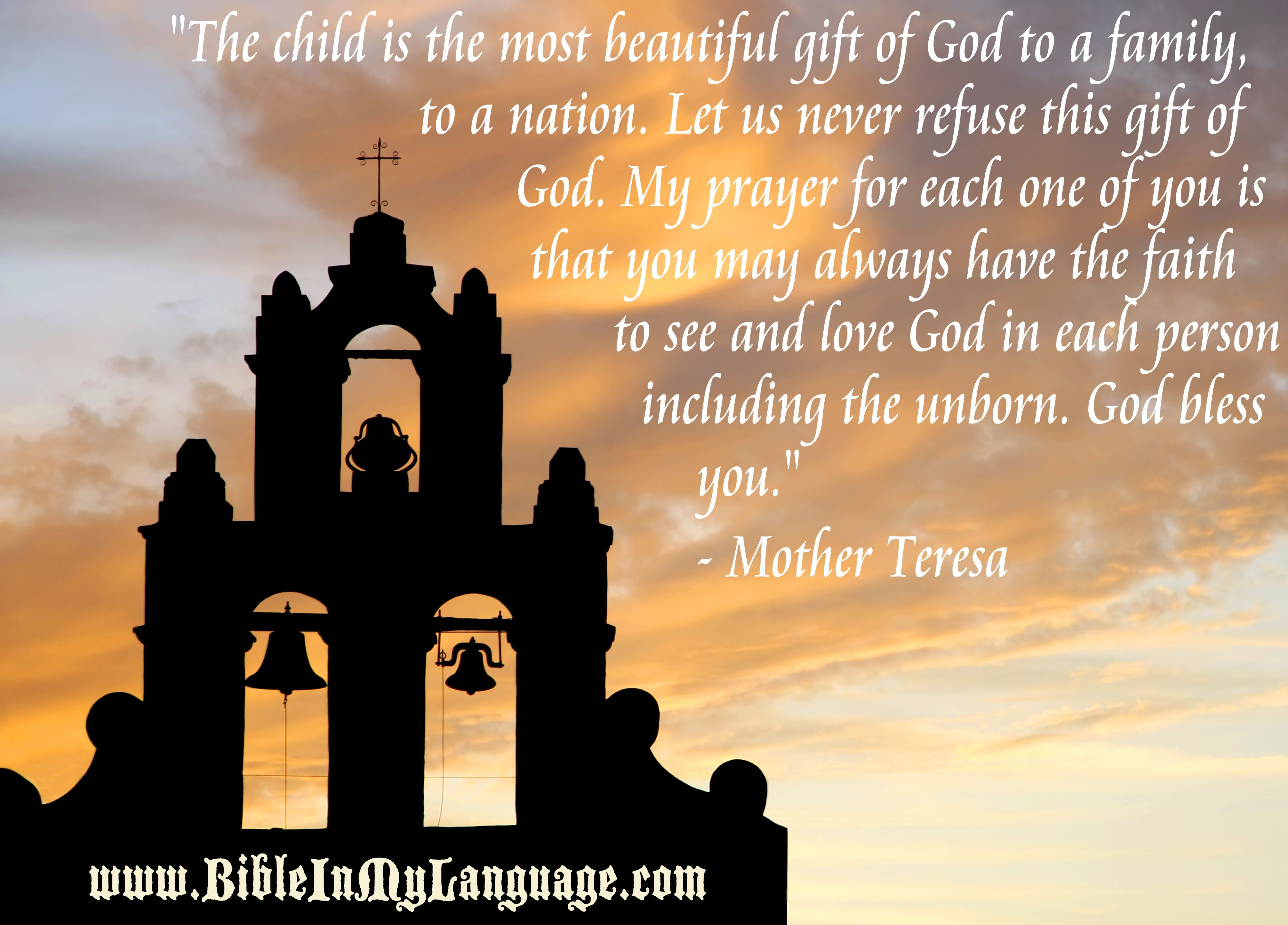 "Pray For My Child Quotes: ""The Child Is The Most Beautiful Gift Of God To A Family"