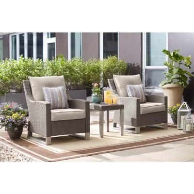 Hampton Bay Broadview Patio Club Chair In Sunbrella Spectrum Dove Patio Seating Sets Patio Seating Lounge Chair Outdoor