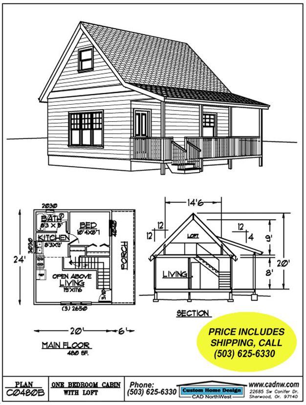 C0480b Cabin Plan Details Cabin Plans Small Cabin Plans Cabin Floor Plans