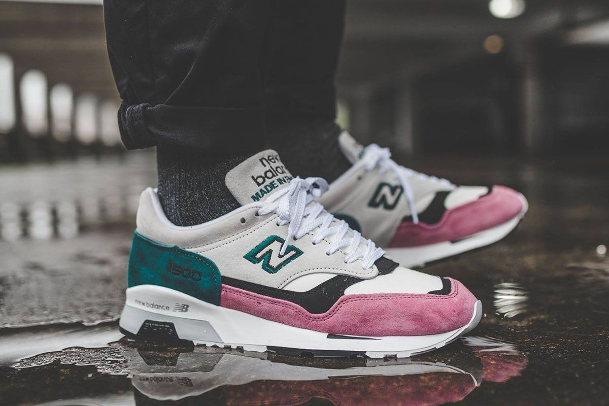 free shipping new balance 1500 black pink teal m1500kfg 2