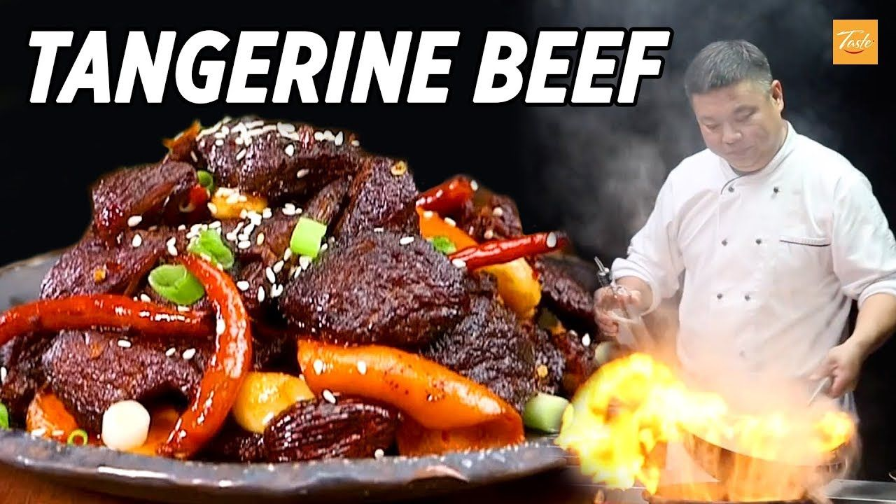 tasty tangerine beef sichuan recipe taste the chinese recipes show food shows recipes beef recipes tasty tangerine beef sichuan recipe