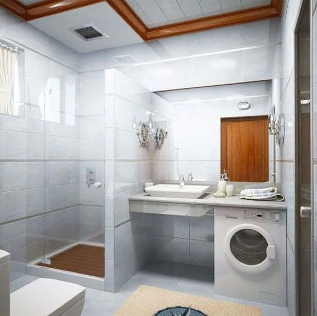 Arredare un bagno piccolo quadrato - Bagno piccolo con lavatrice ...