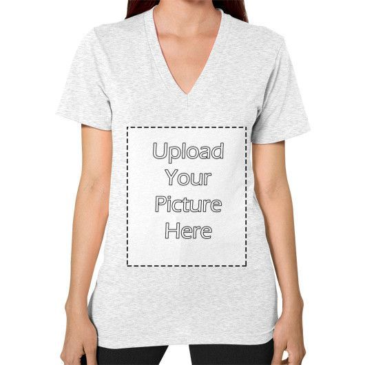 Your Image on V-Neck (on woman)
