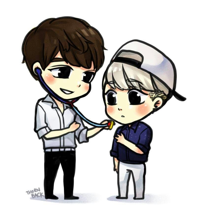 Shinee Doctor Minho Jonghyun Shinee Chibi Fan Art