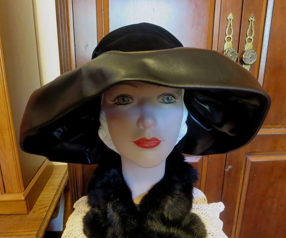 cc5972f2cfc STUNNING Vintage 60 s CHRISTIAN DIOR Chapeaux Paris New York Black Wide  Brim Hat  WideBrim