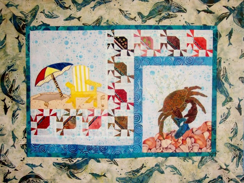 Love how they made the crabs!  Robin's Quilt Nest - Block of the Month Clubs