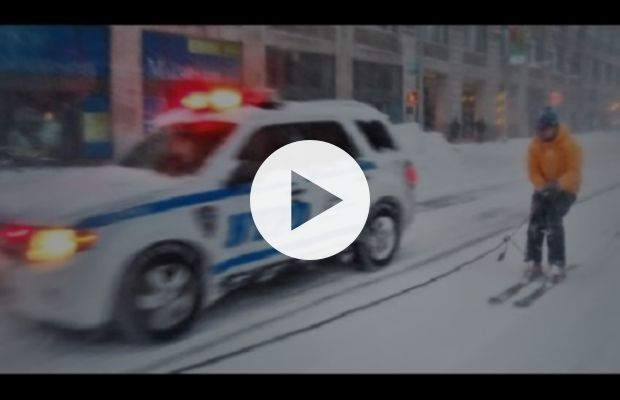 TODAY'S MUST SEE: Snowboarding with the NYPD