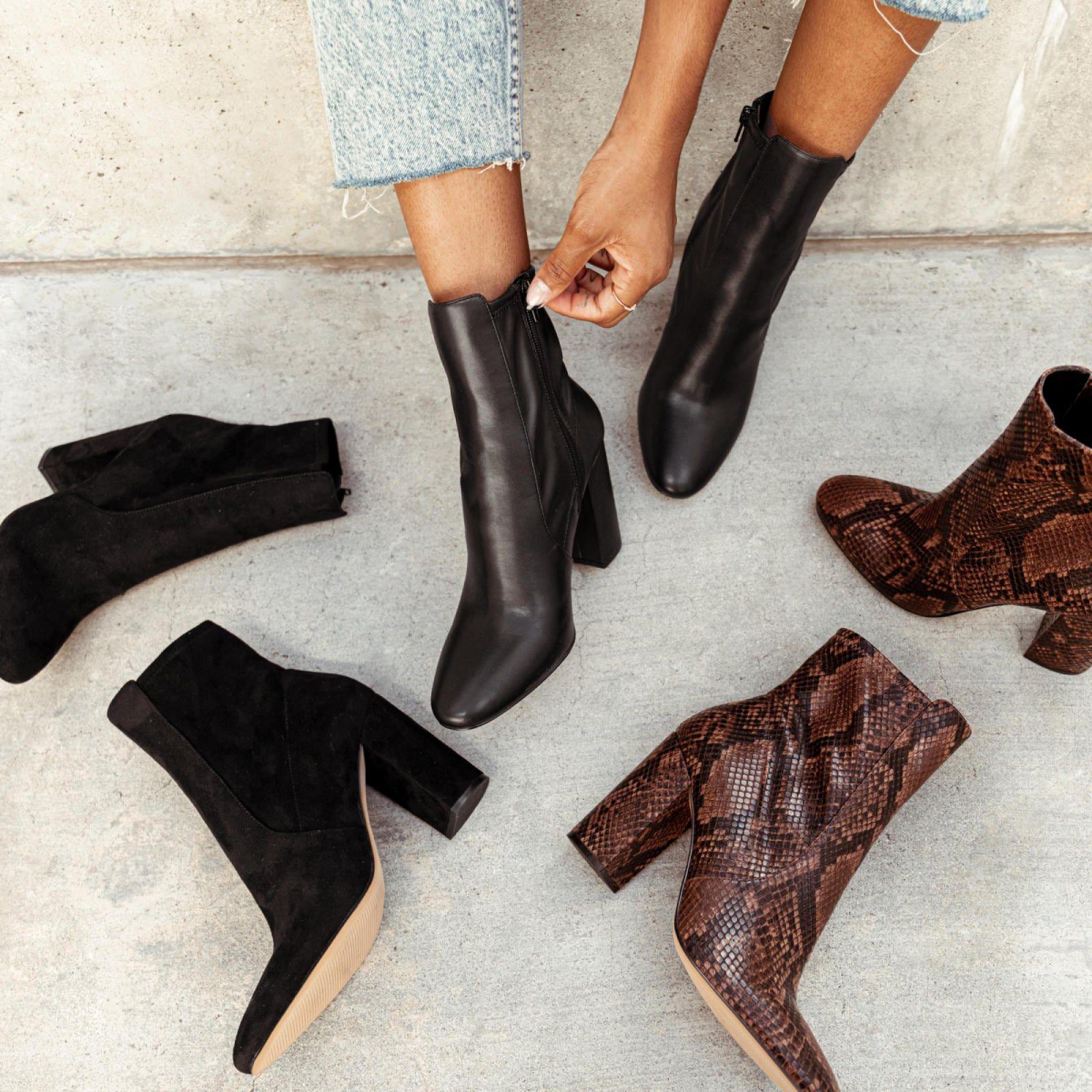 Aurella Black Synthetic Smooth Women S Boots Aldo Us Boots Dress Boots Women Trendy Block Heels