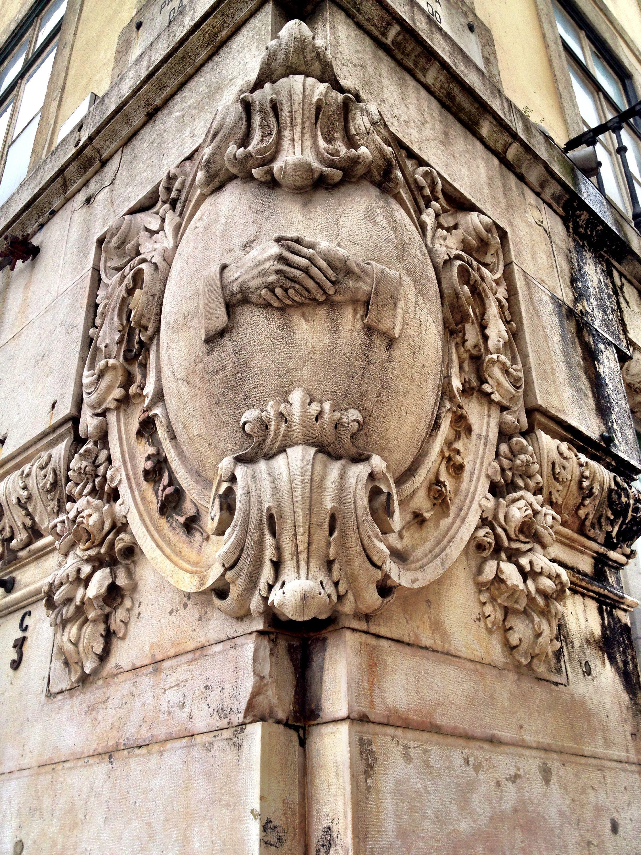 Detail on an old building, Praça da Figueira, Lisbon #Portugal
