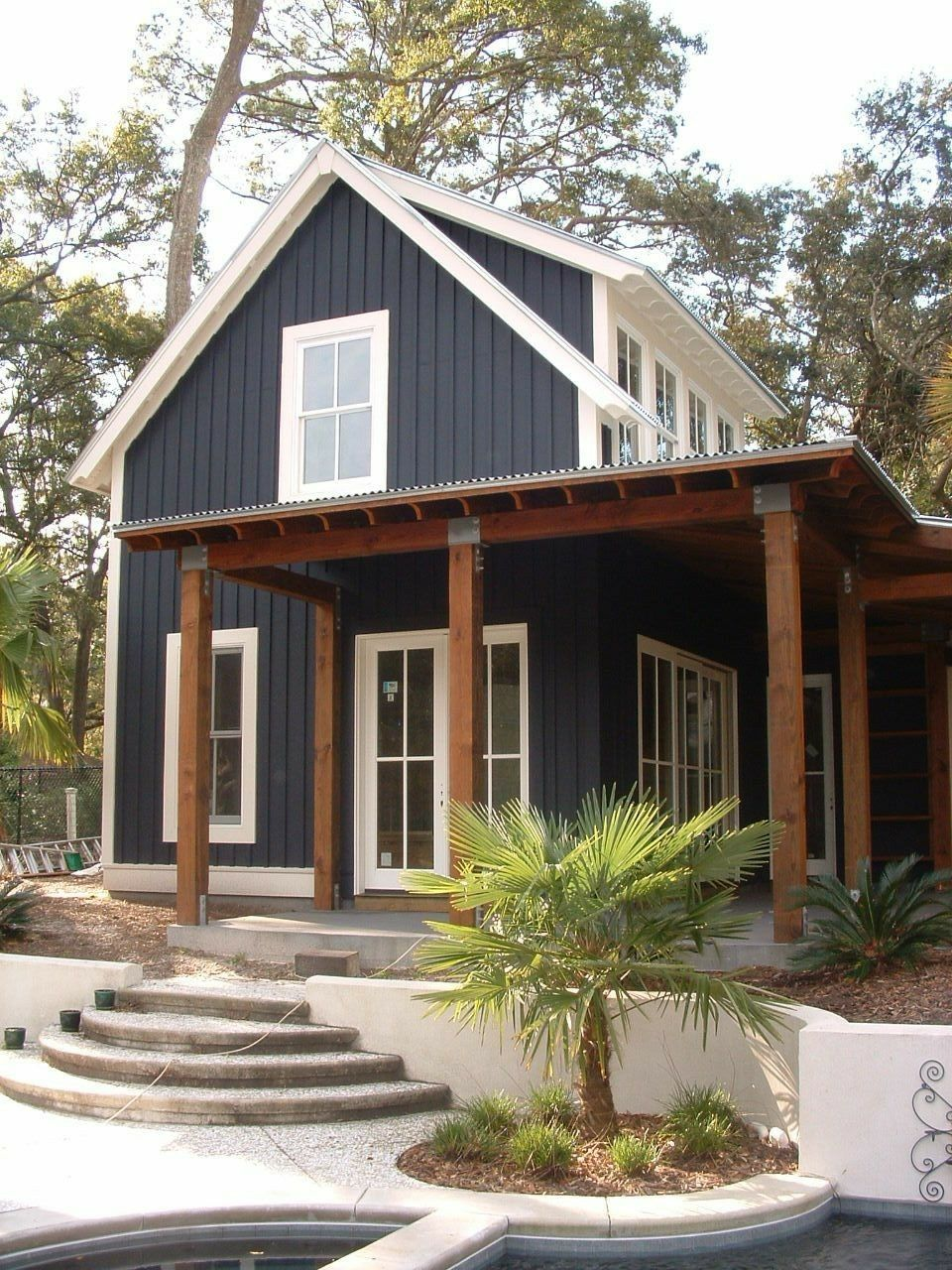 Vertical Siding With Metal Roof Modern Farmhouse Exterior Exterior House Colors Farmhouse Exterior