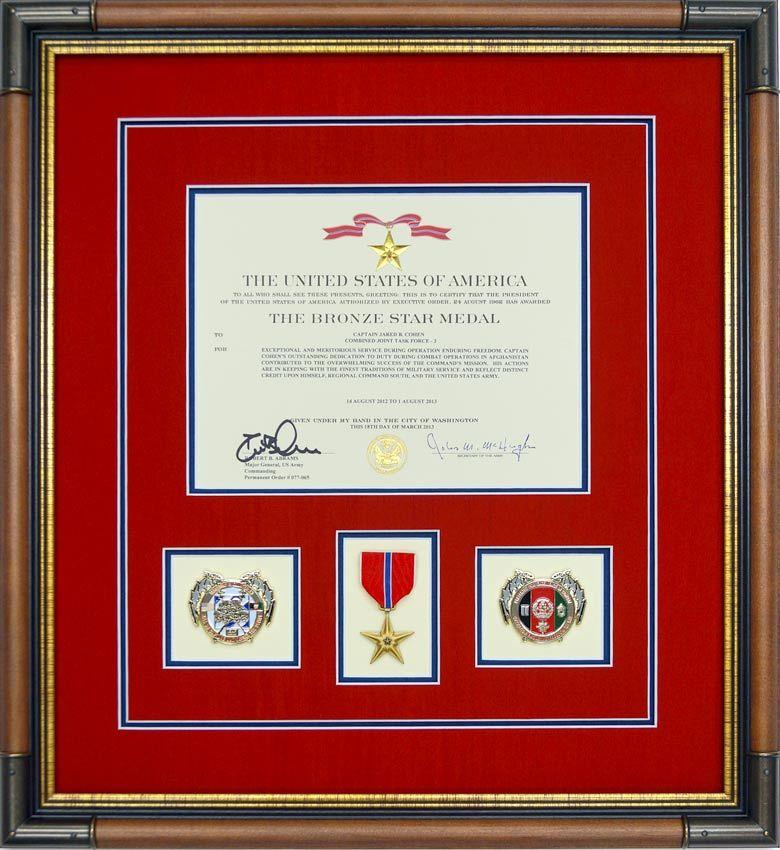 The military shadow box examples in this gallery are typical of our ...