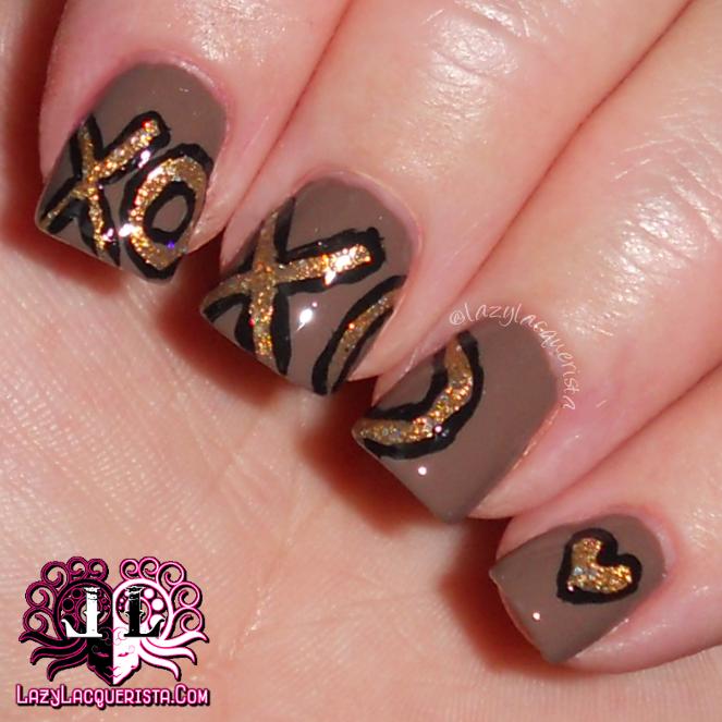 Lazy Lacquerista Be My Valentine Xoxo Nail Art Makeupnails