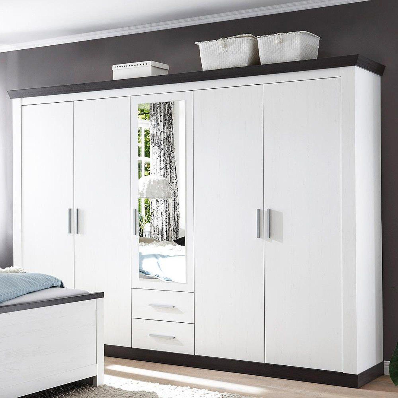 Landhaus Kleiderschrank mit 5 Türen SALARA61 Pinie w (mit