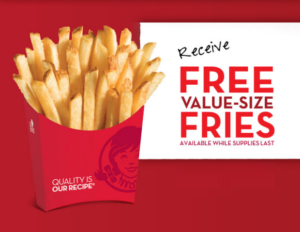 FREE Value Size French Fries