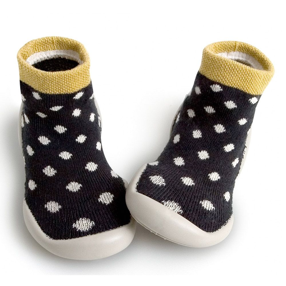 Kids mocassin chaussons chaussettes chaussons antidérapante sole bébé garçons filles