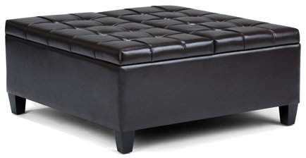 Simpli Home Harrison Coffee Table Storage Ottoman In 2019