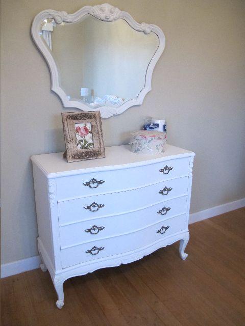 C moda estilo luis xv en blanco con espejo muebles - Muebles luis xv ...