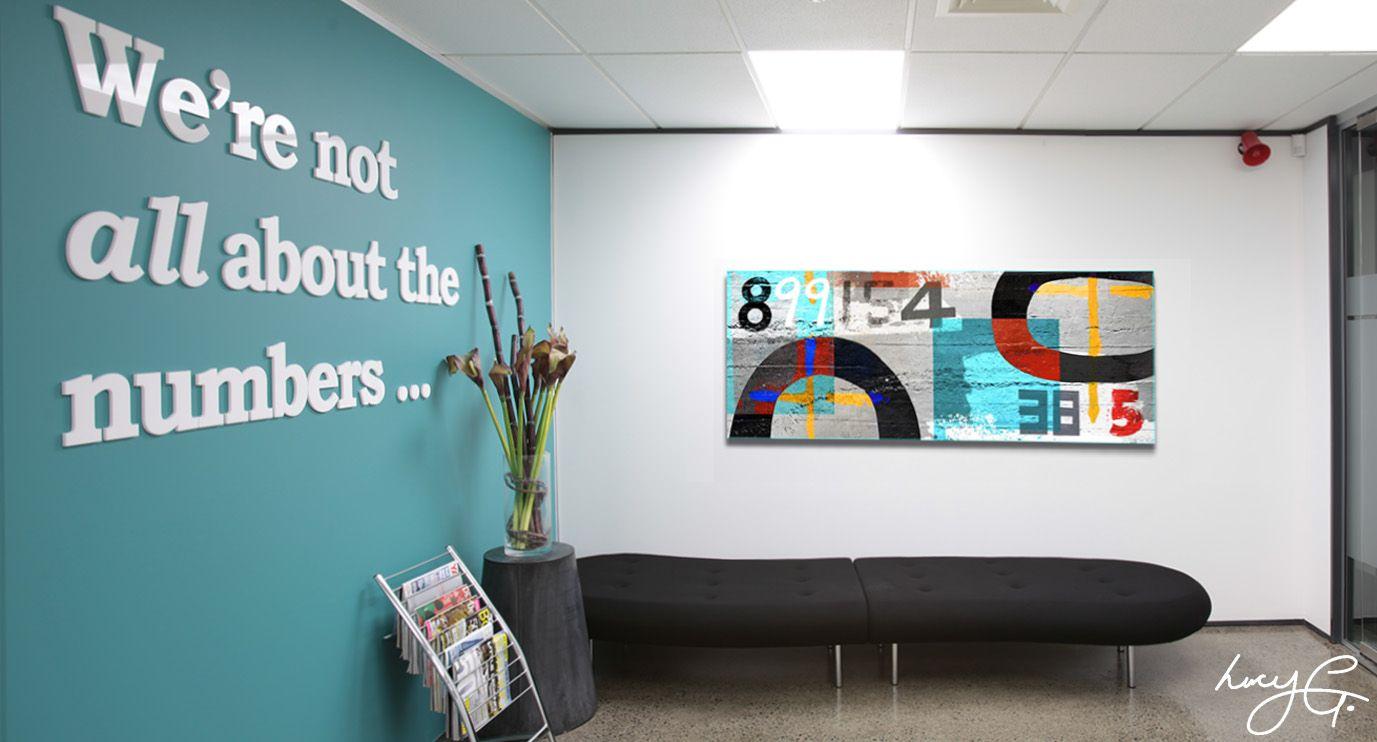 Custom Themed Artwork Great Example For An Accounting Firm Custom Artwork Custom Canvas Art Office Art