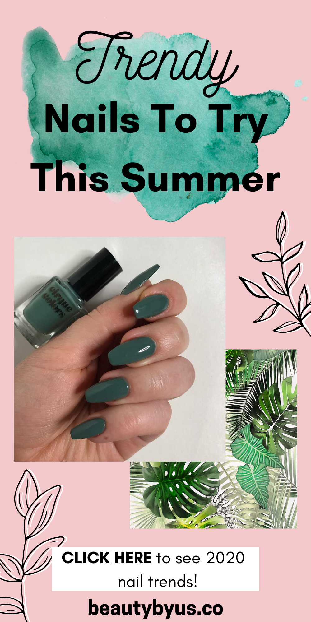 Nails Summer Nails 2020 Color Trends Trending Baddie Nails Gel Acrylic And Natural In 2020 Summer Nails Cute Summer Nails Nail Color Trends
