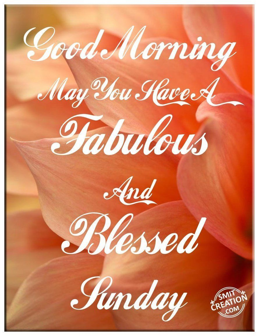 Good Morning May You Have A Fabulous And Blessed Sunday Good