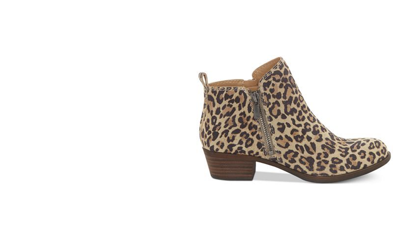 8ded245d78df Lucky Brand Women's Basel Leopard Print Booties, Created For Macy's - Boots  - Shoes - Macy's