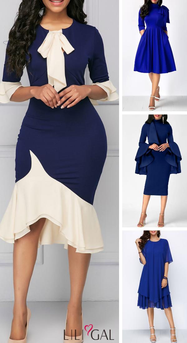 a41e24ba08daf blue dresses, party dress, holiday dress, classy dress, modest dress ...