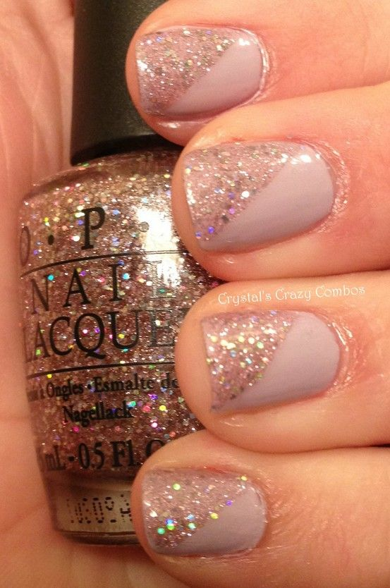 Half Sparkle Nail Art Need These Nails Nails Sparkle Nails Nail Designs