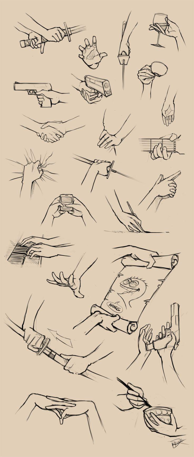 Как рисовать жесты и выражения рук