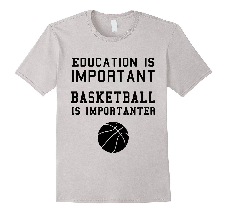3c66fe5729710 Amazon.com: Funny Basketball is importanter T-shirt For Boys Men ...