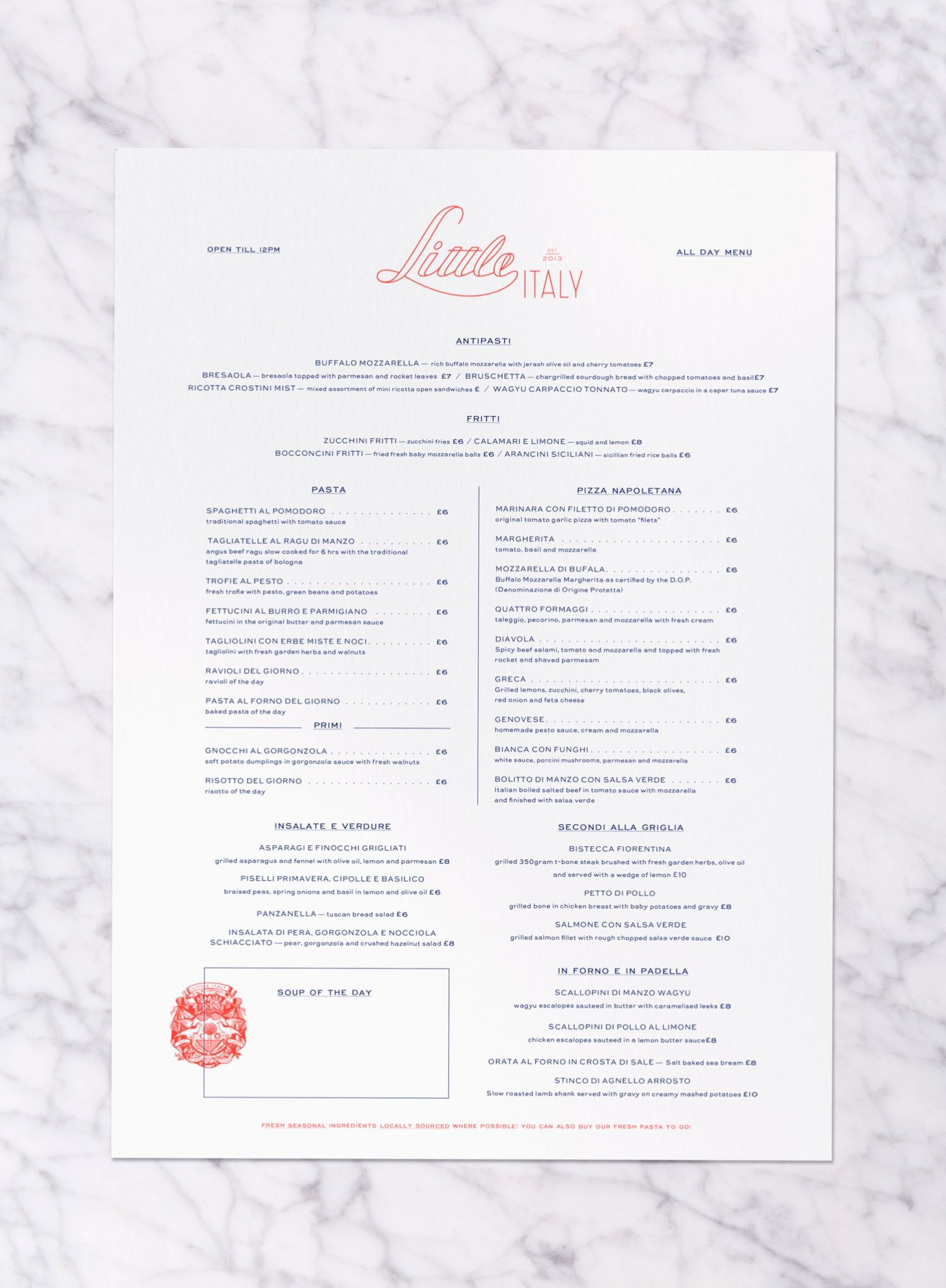 52fe6f83fd33 LITTLE_ITALY_MENU_WEB | Menu Design | Food menu design, Menu layout ...