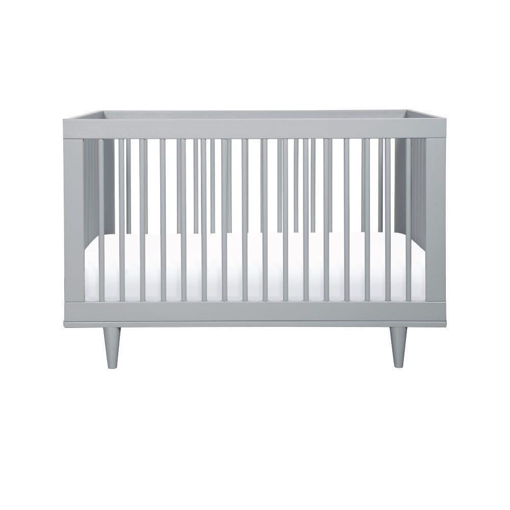 Baby Mod Marley 3 In 1 Convertible Crib (Grey)