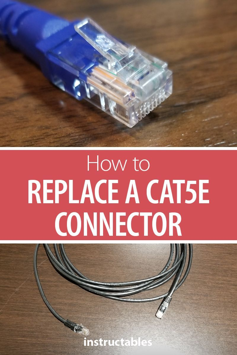 Replace a Cat5e Connector   Electronics Projects   Computer help