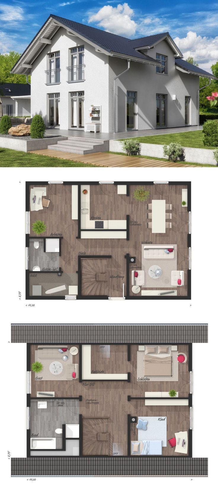 Einfamilienhaus im Alpenstil BODENSEE 129 Süd Town & Country Haus | HausbauDirekt