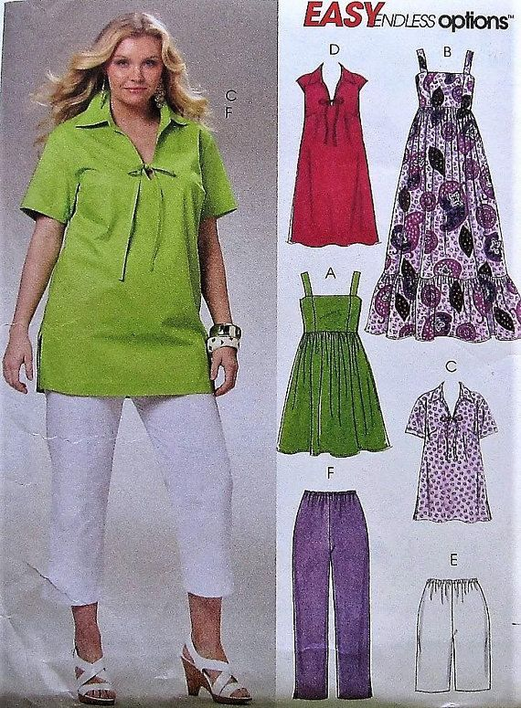 Top, Dress, Shorts, and Pants Sewing Pattern UNCUT McCalls M6085 ...
