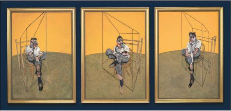 Three Studies of Lucian Freud (Christie's)
